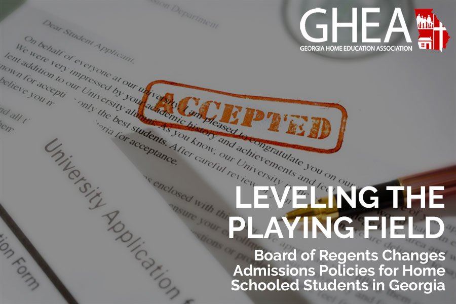 """Featured image for """"Georgia Board of Regents Levels the Playing Field for Homeschoolers"""""""